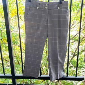 Nike Golf Capri Gray And White Plaid Pants
